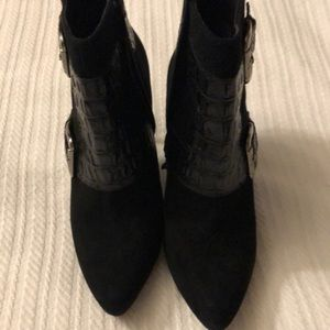 EUC DONALD PLINER SUEDE AND LEATHER BOOTIE
